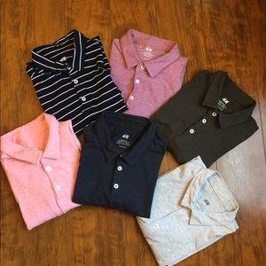 H&M-Bundle of 6 Slim Fit Cotton Polo Shirts.Size M